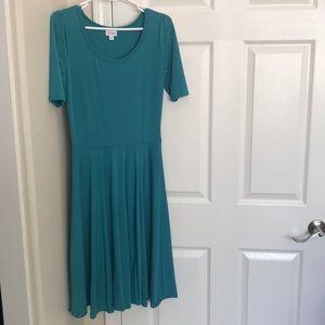 LuLaRoe Teal Dress Size Small